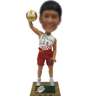 Volleyball player bobble head doll