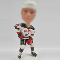 Custom Hockey players bobble doll