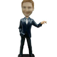 Custom Man In Suit Bobblehead 12 Inch
