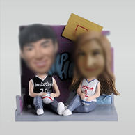 Customized couple bobble head