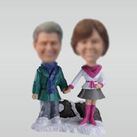 Customized couple bobble heads