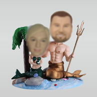 Customized Poseidon couple bobbleheads