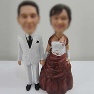 Evening party dress bobble head doll