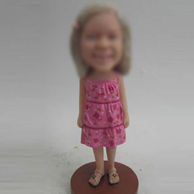 Girl bobble head