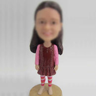Girl  for custom bobblehead doll