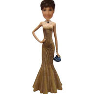 Good Dress Girl Bobble head doll  12 Inch