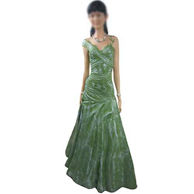 Green Dress Girl Bobble head  12 Inch