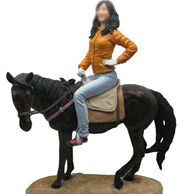 Horse Riding Bobble 12 Inch