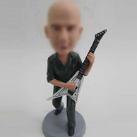 Man with Electric Guitar bobblehead doll