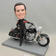 Man  bobble head doll with Motorcycle