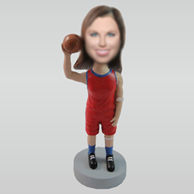 Personalized custom basketball bobble head