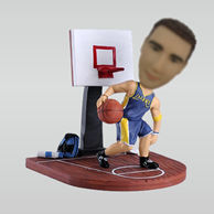 Personalized custom basketball player bobble heads