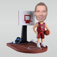 Personalized custom basketball player bobbleheads