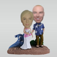 Personalized custom Beach lovers bobbleheads