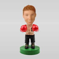 Personalized custom Boxer bobbleheads