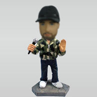 Personalized custom Camo singer bobblehead