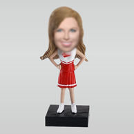 Personalized custom Cheerleader bobbleheads