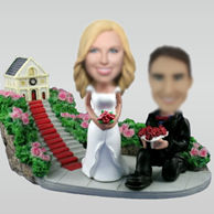 Personalized custom Church wedding bobblehead
