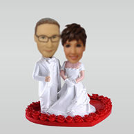 Personalized custom Classic wedding bobble heads