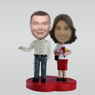 Personalized custom couple bobble head doll