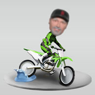 Personalized custom Crazy Racer bobblehead