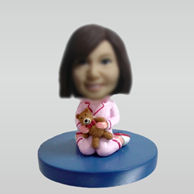 Personalized custom Cute Girl bobble head