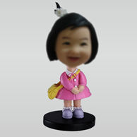 Personalized custom Cute Girl bobble heads