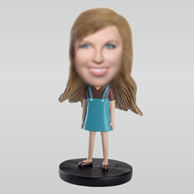 Personalized custom Cute Girl bobblehead dolls