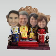 Personalized custom emperor/ Nobility Family bobbleheads