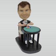 Personalized custom God of Gamblers bobbleheads