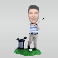 Personalized custom golf bobble head