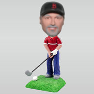 Personalized custom golf bobble heads