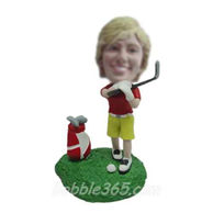 Personalized custom golf bobblehead dolls
