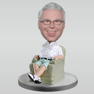 Personalized custom Grandpa bobbleheads