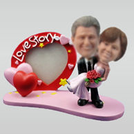 Personalized custom Happiness couple bobble head