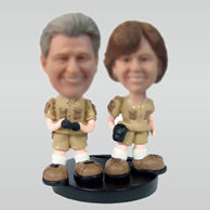 Personalized custom Happiness couple bobble heads