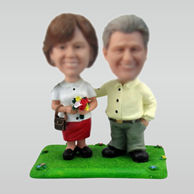 Personalized custom Happiness couple bobbleheads