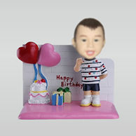 Personalized custom happy birthday bobbleheads