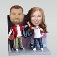 Personalized custom happy couple bobble head