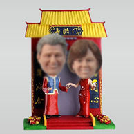 Personalized custom happy couple bobblehead