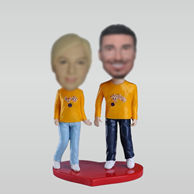 Personalized custom happy couple bobbleheads