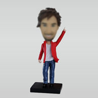 Personalized custom happy man bobbleheads