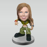 Personalized custom HIP-HOP girl bobbleheads