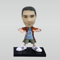 Personalized custom hip-hop man bobbleheads