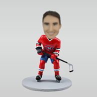 Personalized custom Hockey Players bobble heads