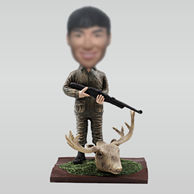 Personalized custom Hunter bobbleheads