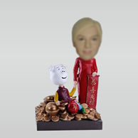 Personalized custom Kung Hei Fat Choy bobbleheads