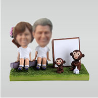 Personalized custom lovers and Monkey bobbleheads