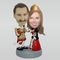 Personalized custom Masquerade party bobbleheads