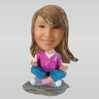 Personalized custom Meditation bobbleheads